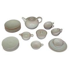 Otto Lindig Bauhaus Tea Service Karlsruhe Majolica Germany 1923 Glazed Ceramic