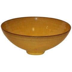 Otto Natzler Yellow Flared Bowl