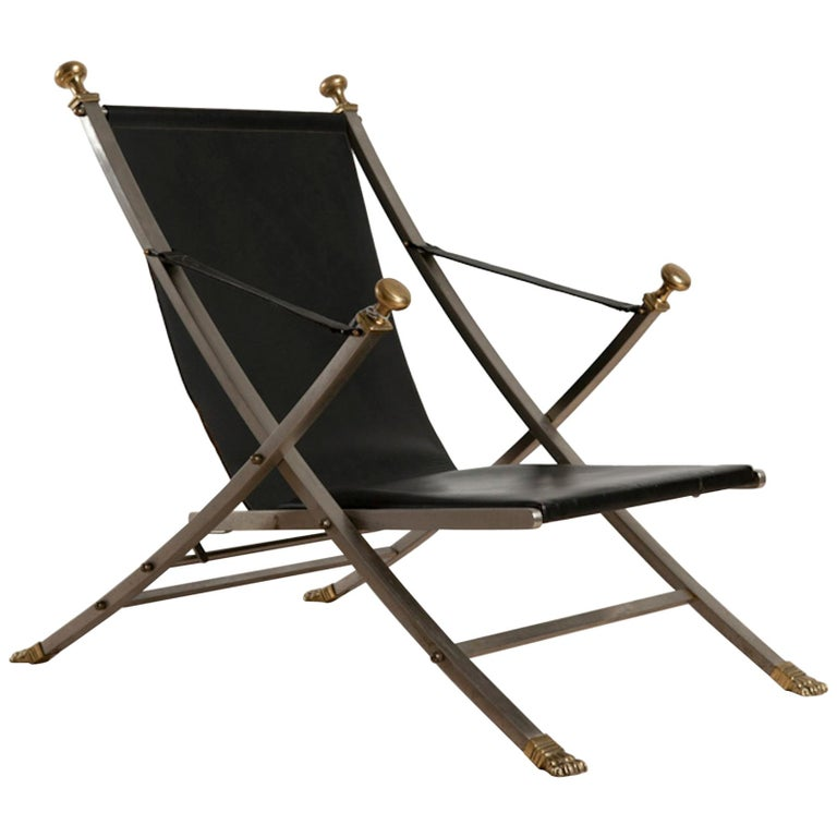 Otto Parzinger, Campaign Chair, Manufactured by Maison Jansen, circa 1970 For Sale