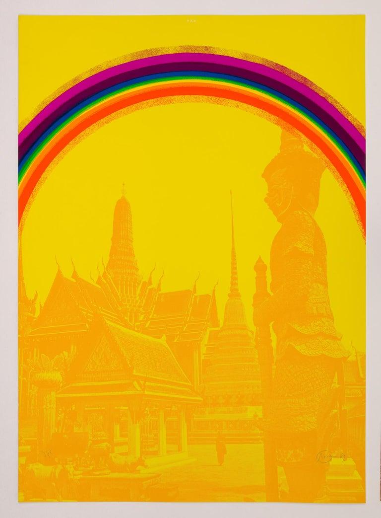 Otto Piene Figurative Print - Pax - Bangkok