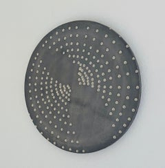 Raster Moon, 2009, clay, silver, glaze, platinum, round, Group Zero, light