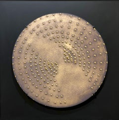 Raster Sun, 2009, clay, gold glaze, round, Group Zero, light