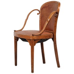 Otto Prutscher & Gebrüder Thonet Chair, Early 20th Century, Jugendstil Beechwood