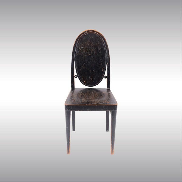 Hand-Crafted Original Otto Prutscher&Gebrueder Thonet Vienna Jugendstil Chair 20th Century For Sale