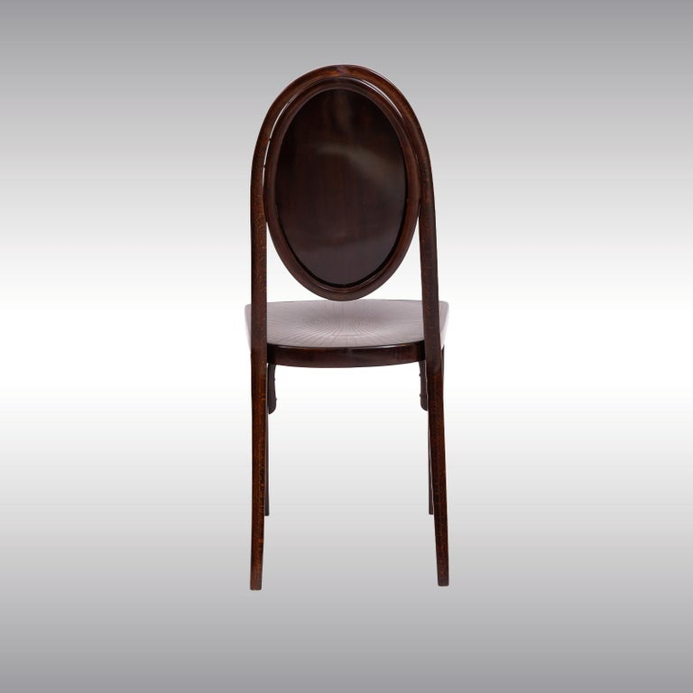 Originally made by Thonet with the Nr: 567 - for the Café Heinrichshof - oposite the Vienna States Opera House, destroid 1945. Published first in 1908 in a
