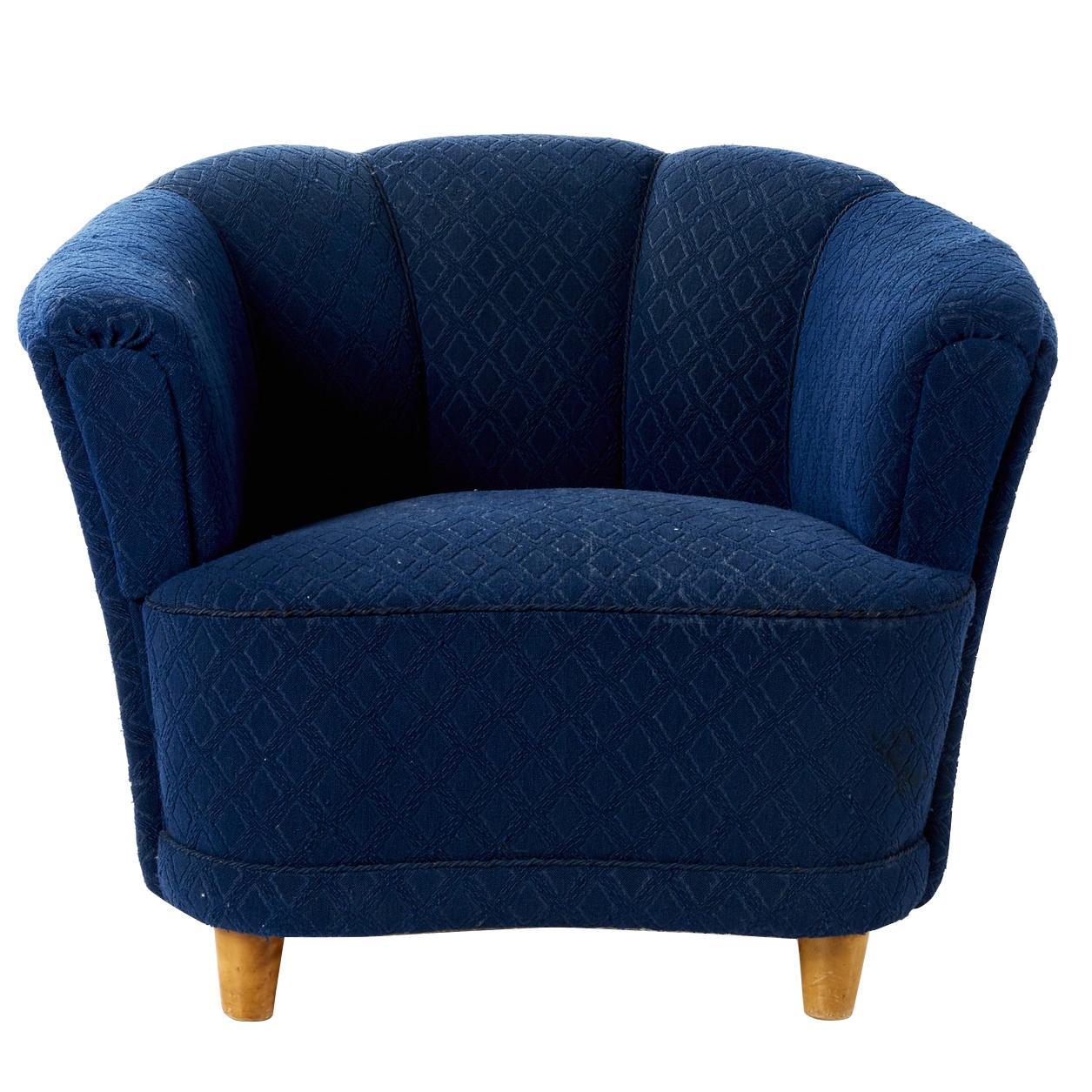 Otto Schulz 1940s Lounge Chair for Boet, Scandinavian Midcentury