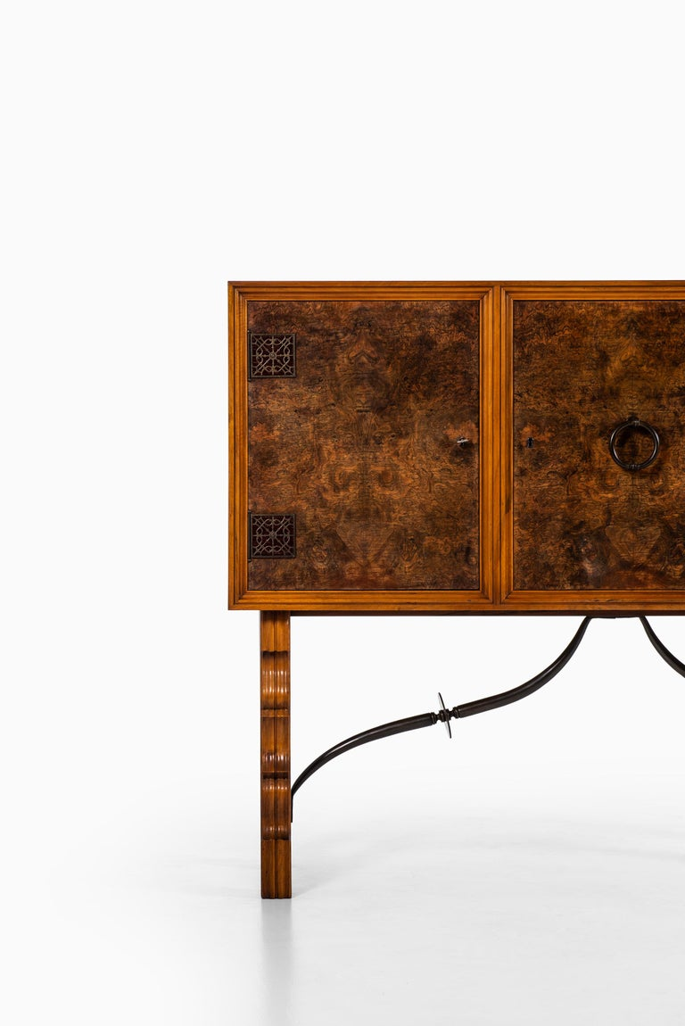 Very rare cabinet designed by Otto Schulz. Produced by Boet in Sweden.