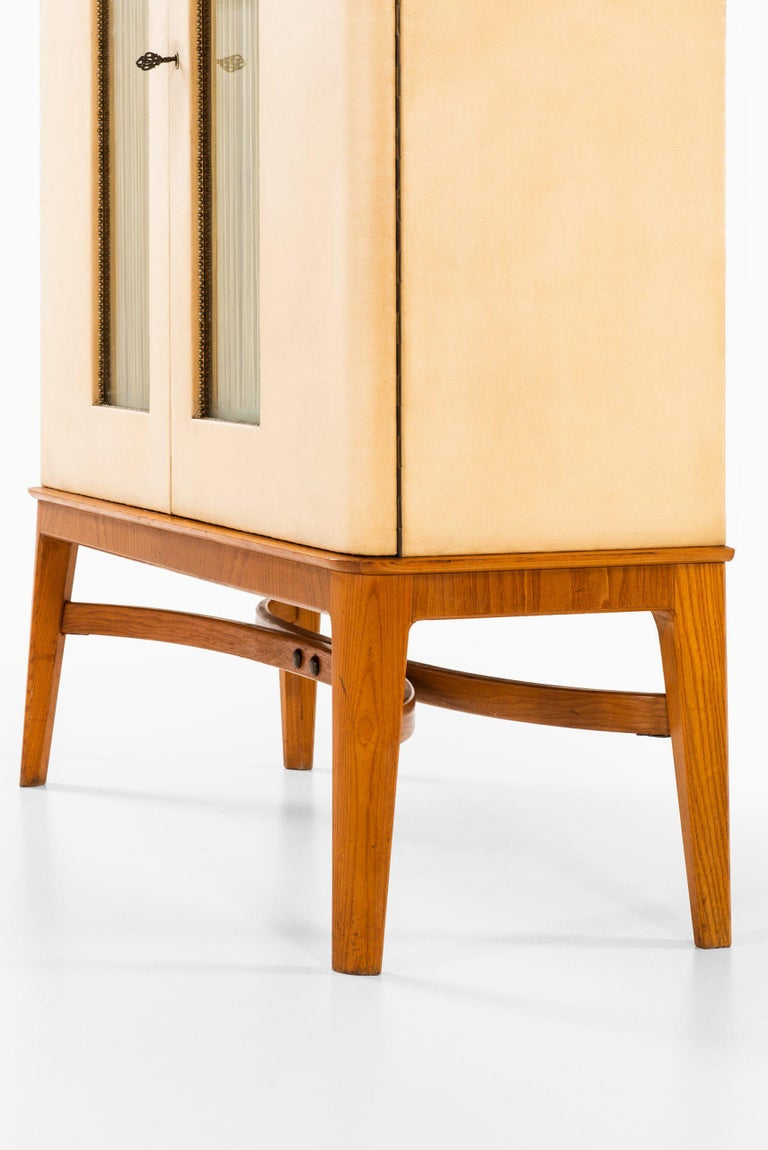 Brass Otto Schulz Cabinet Produced by Boet in Sweden For Sale