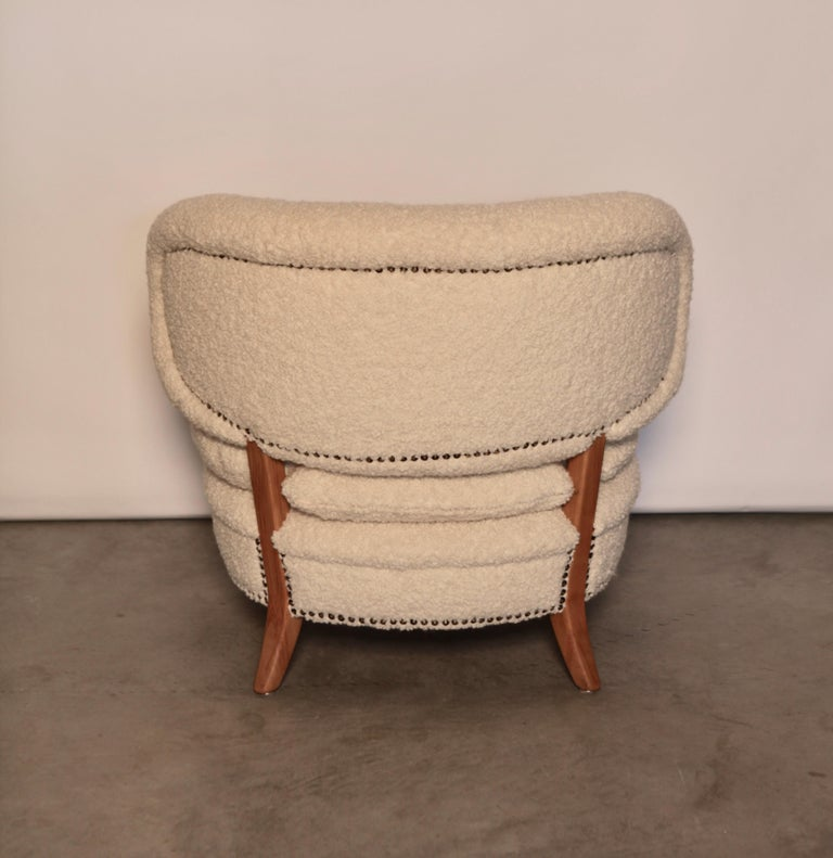 Stained Otto Schulz Easy Chair, Sweden, Produced by Boet, 1940s For Sale