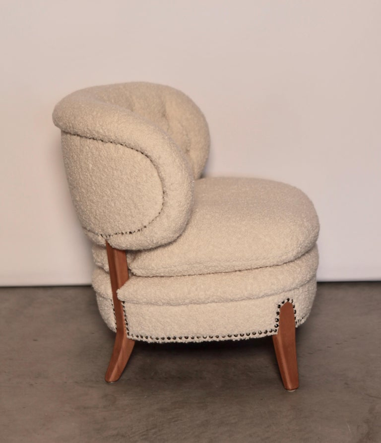 Mid-20th Century Otto Schulz Easy Chair, Sweden, Produced by Boet, 1940s For Sale