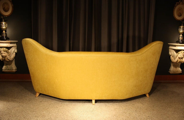 Otto Schulz High Back Banana Sofa for Boet, 1930s For Sale 3
