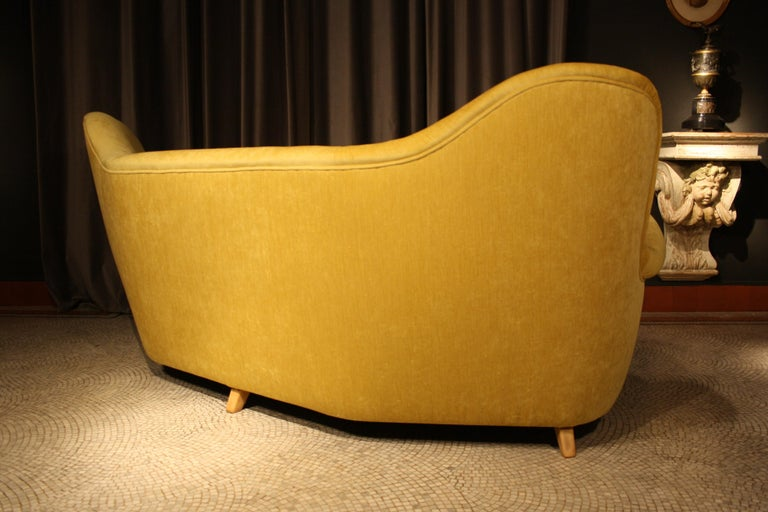 Otto Schulz High Back Banana Sofa for Boet, 1930s For Sale 4
