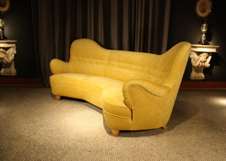 Otto Schulz High Back Banana Sofa for Boet, 1930s For Sale 1