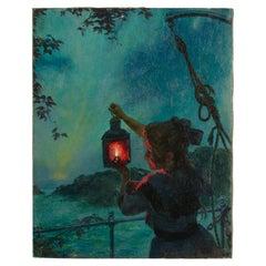 Otto Toaspern 'American, Brooklyn, 1863-1940' Girl with Lantern