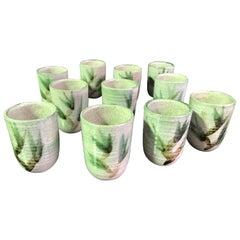 Otto & Vivika Heino Midcentury Ceramic Pottery 12-Piece Goblet/ Cup Set