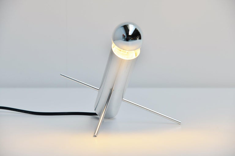 Mid-Century Modern Otto Wach Cricket Lamp by RAAK Amsterdam Holland, 1960 For Sale