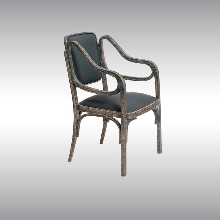 Vienna Secession Otto Wagner Armchair 1901 Jugendstil, Secession Style 1901 / Original of Time For Sale