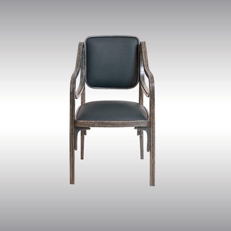 Austrian Otto Wagner Armchair 1901 Jugendstil, Secession Style 1901 / Original of Time For Sale