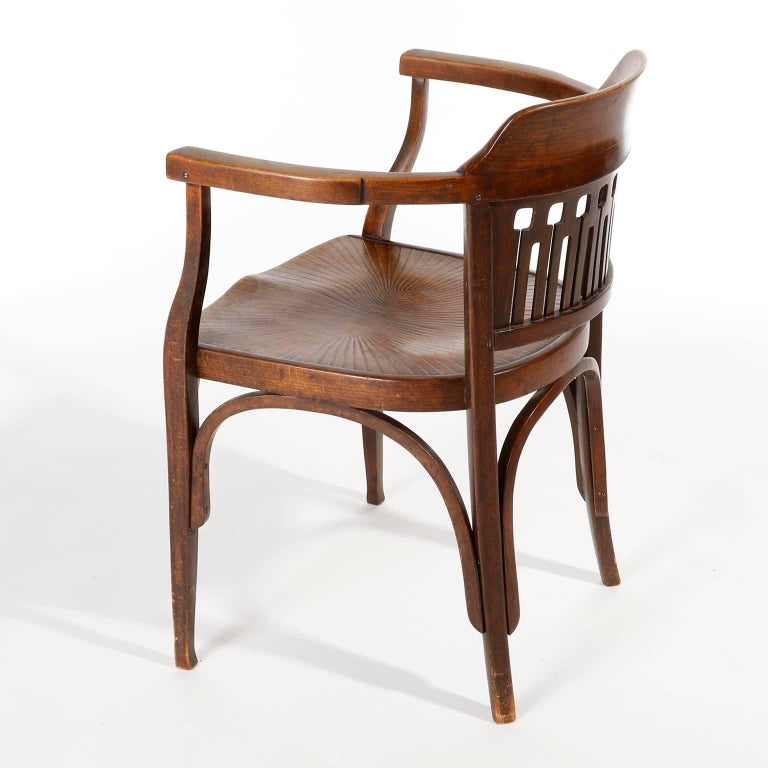 Otto Wagner Chair Armchair by J.&J. Kohn, Austria, Vienna Secession, circa 1900 In Excellent Condition For Sale In Vienna, AT