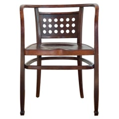 Otto Wagner Iconic Postsparkasse Brown Bentwood Armchair