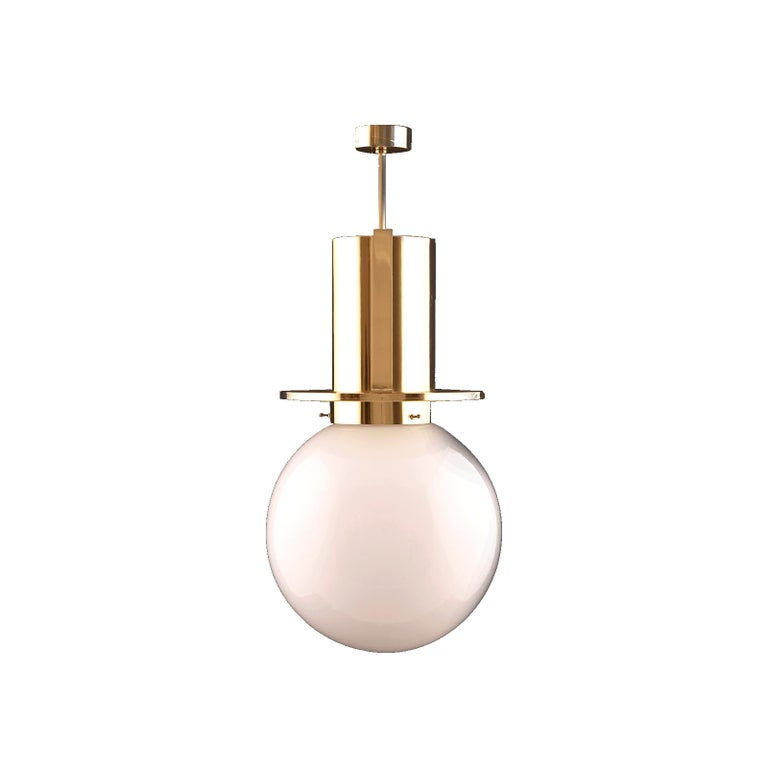 Modernistic pendant-light. Important design for the underground lines of the Wiener Stadtbahn. There he combined visible structural details with contemporary elements of arts. The measures are without stem! The main Image Shows the original design,
