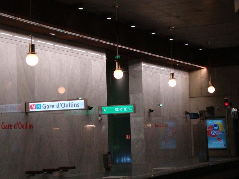 Brass Otto Wagner Metro Stations Vienna Jugendstil Pendant,  Re-Edition For Sale