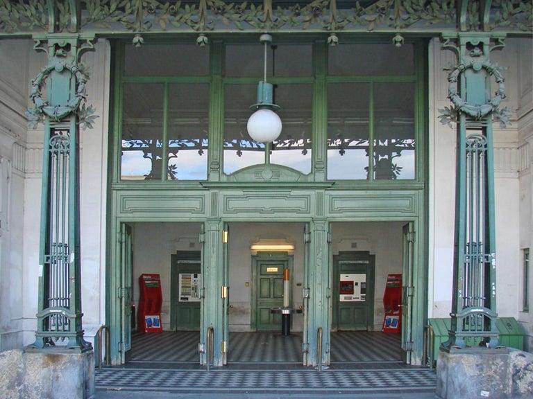 Otto Wagner Metro Stations Vienna Jugendstil Pendant,  Re-Edition For Sale 1