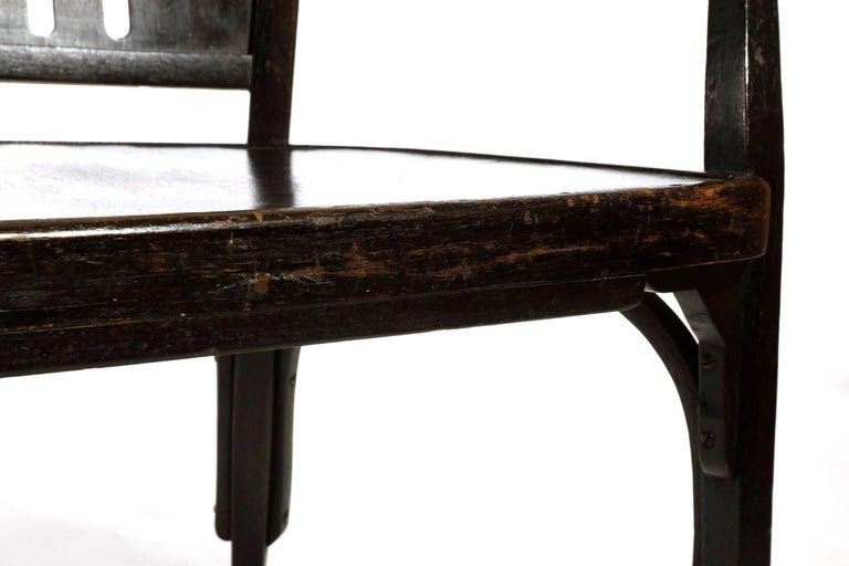 Otto Wagner Settee Bench Bentwood, Thonet, Austria, Vienna Secession, circa 1905 For Sale 10