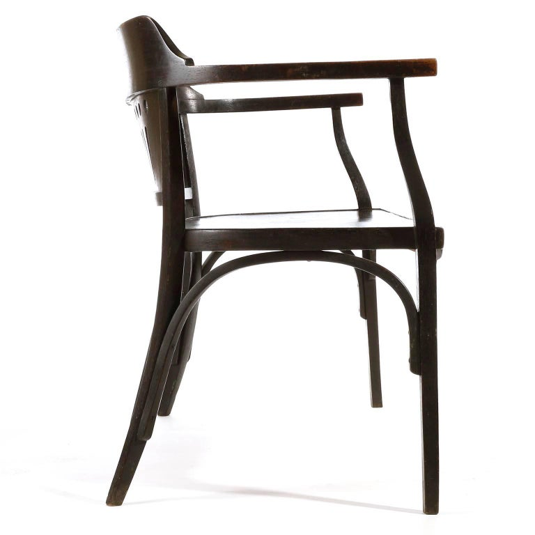 Otto Wagner Settee Bench Bentwood, Thonet, Austria, Vienna Secession, circa 1905 For Sale 6