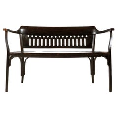 Otto Wagner Settee Bench Bentwood, Thonet, Austria, Vienna Secession, circa 1905