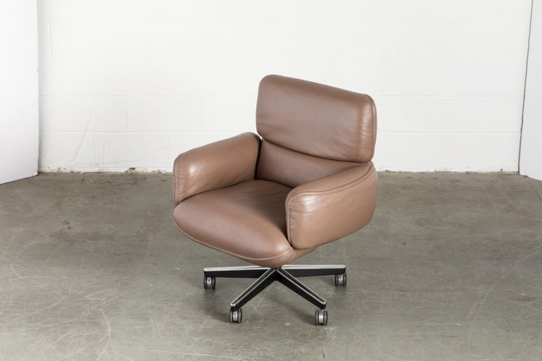 Otto Zapf for Knoll International Leather Desk Chair, c. 1985, Signed  For Sale 7