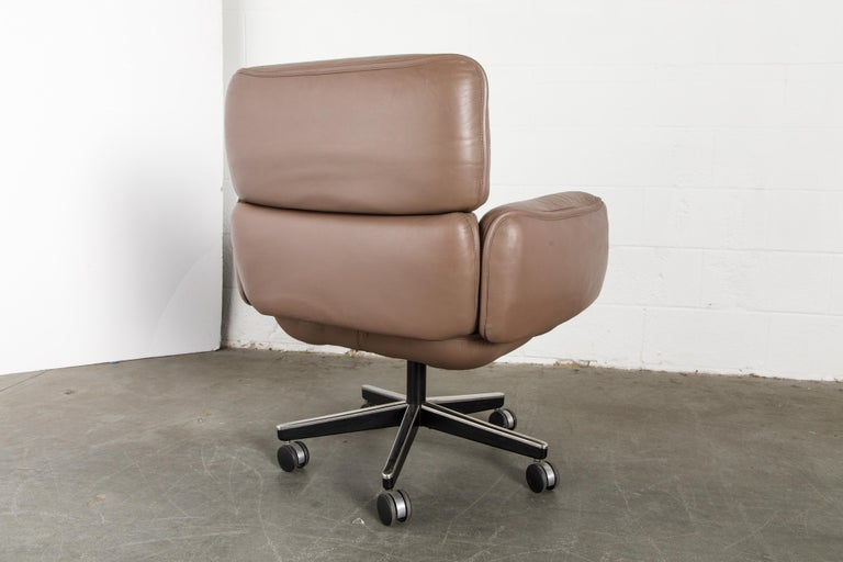 Otto Zapf for Knoll International Leather Desk Chair, c. 1985, Signed  For Sale 12