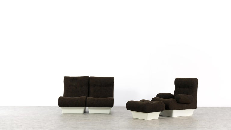 Otto Zapf, Sofalette Living Room Set and Table, 1967 by Vitsœ, Germany In Good Condition For Sale In Munster, NRW