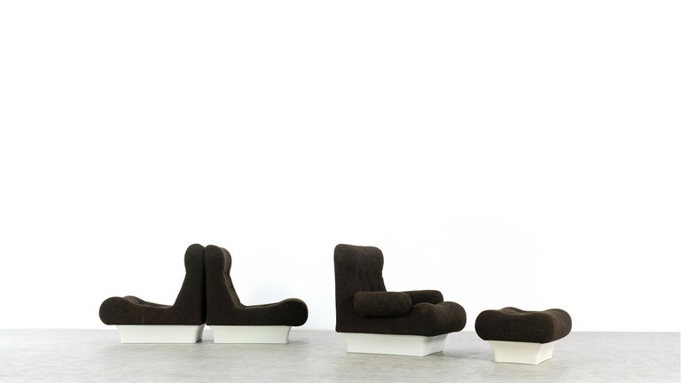 Fiberglass Otto Zapf, Sofalette Living Room Set and Table, 1967 by Vitsœ, Germany For Sale