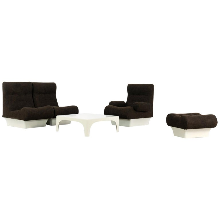 Otto Zapf, Sofalette Living Room Set and Table, 1967 by Vitsœ, Germany For Sale
