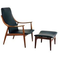 Ottoman and Lounge Chair by Peter Hvidt for France & Son