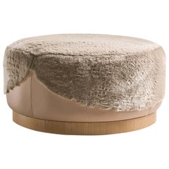 Ottoman in Furs Pearl Ottoman by Fratelli Boffi