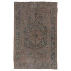 Antique Green Oushak Carpet, Circa 1910s