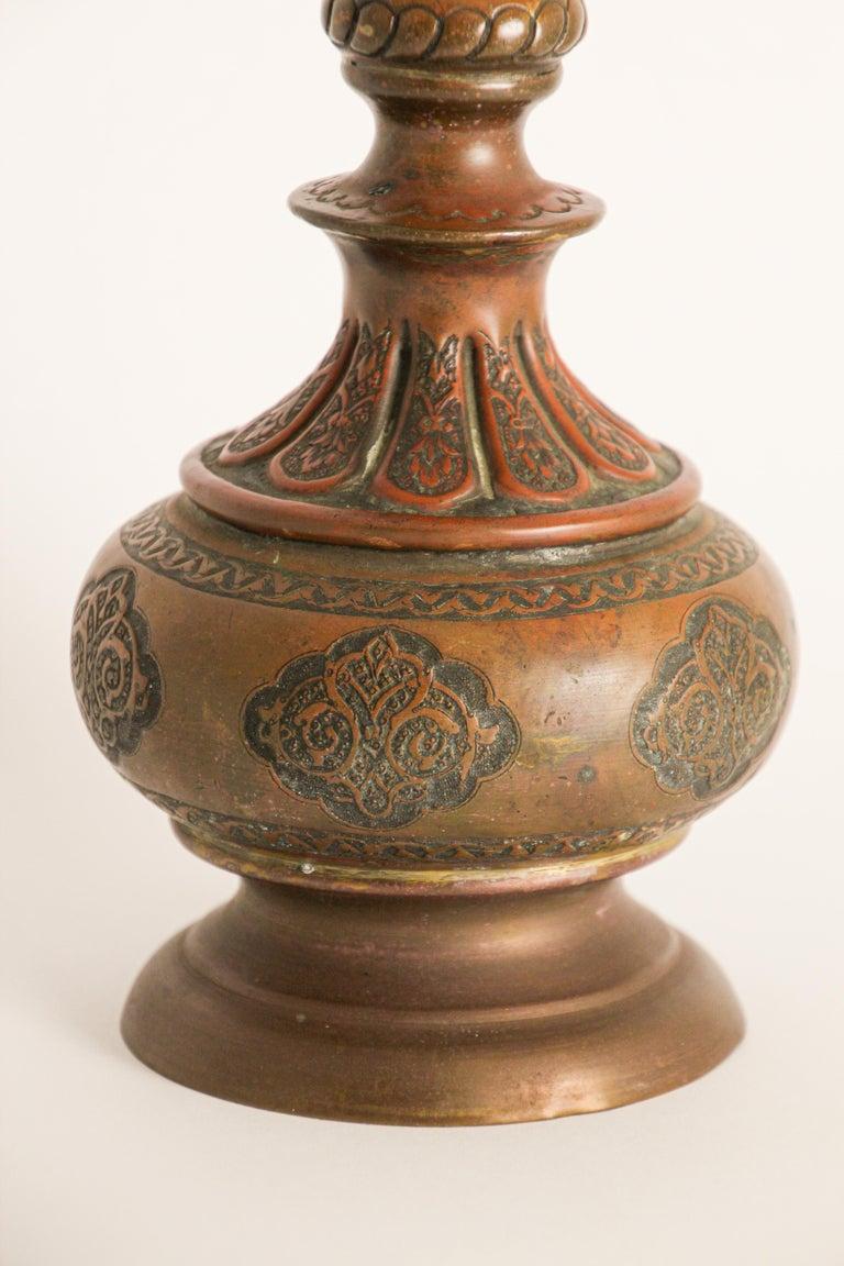 Ottoman Mameluke Decorative Copper Rosewater Perfume Sprinkler For Sale 3