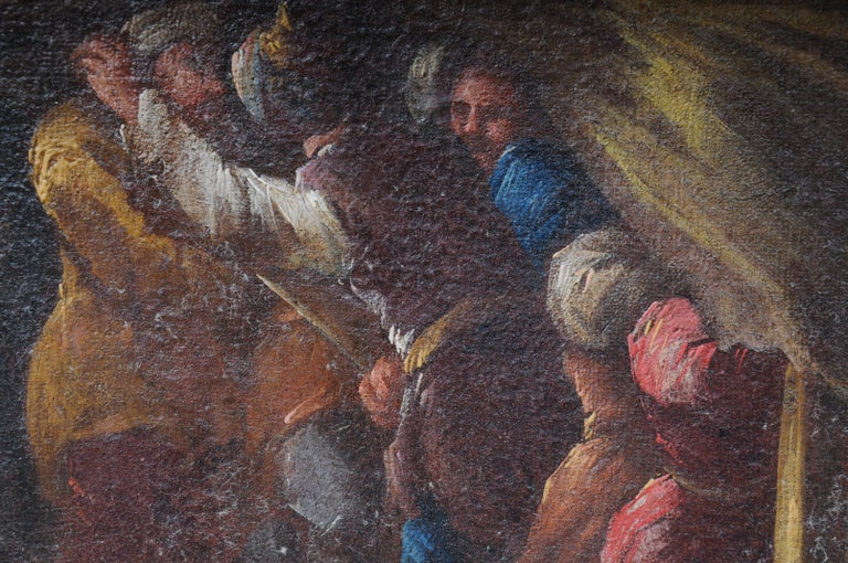 Ottomans Oil Painting  Battle Scene from 1740 For Sale 4