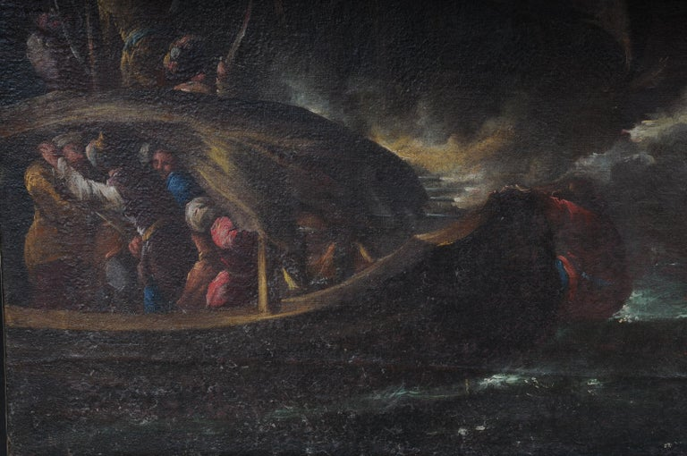 Ottomans Oil Painting  Battle Scene from 1740 For Sale 8