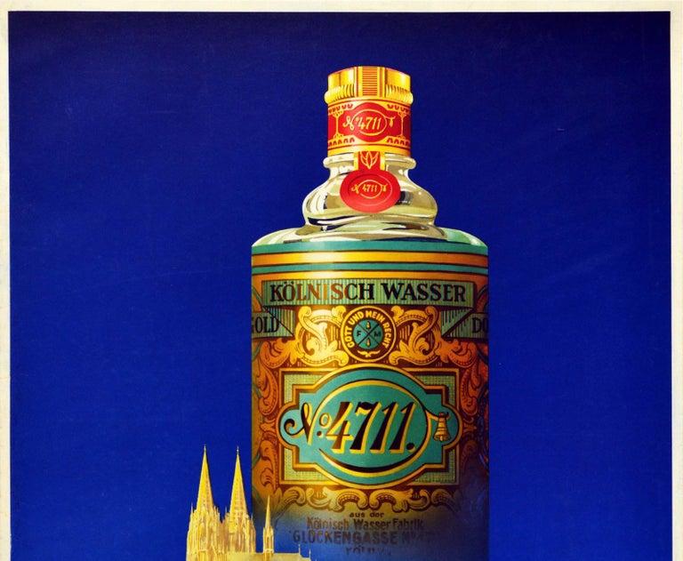 Original Vintage Perfume Advertising Poster For Eau De Cologne 4711 Koln Germany - Print by Ottomar Anton