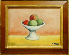 Still Life with Fruits - Oil on Canvas by Ottone Rosai - 1950 ca.