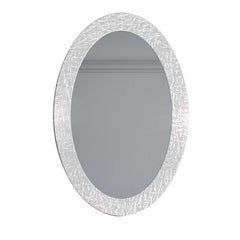 Oud White Oval Mirror