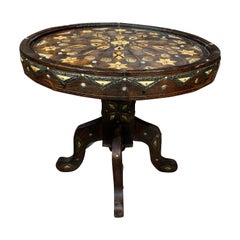 Oujda Region Round Side Table, Morocco, 1920s