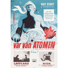 Our Friend the Atom 1958 Swedish B1 Film Poster