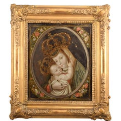 Our Lady of Bethlehem, Paint on Glass, Wood, Etc, 18th Century