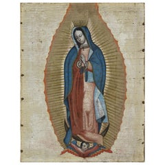 Our Lady of Guadalupe, Oil on Canvas, 18th Century