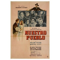 """""""Our Town"""" 1940 Argentine Film Poster"""
