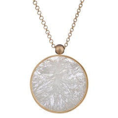 Ouroboros Agate and Gold Pendant Necklace